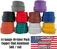 14 GA Automotive Trailer Wiring Harness Hookup Cable Primary Wire 10 color Pack