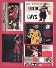 LEBRON JAMES ROOKIE & JERSEY KYRIE IRVING GAME USED CARD & RC + TRISTAN THOMPSON