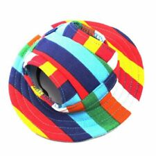 Round Brim Pet Cap Visor Hat Pet Dog Mesh Porous Sun Cap with Ear Holes for  8Q7