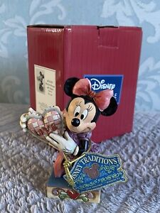 """Disney Showcase Disney Traditions Minnie Mouse with Heart """"My Love"""" Figurine New"""