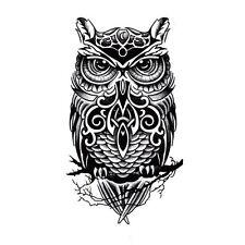 Temporäre Tattoo Handgemalte Eule Tattoo-Aufkleber Wasserdicht Tattoo-Aufkleb.