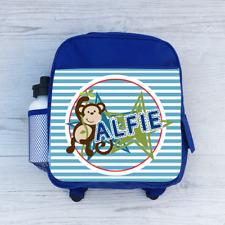 Personalizado Cheeky Monkey Chicos Niños Mochila Bolso Escolar, Para Niños