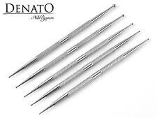 5pcs Professional Stainless Steel Dotting Pen UV LED Gel Nail Art Tool Denato UK