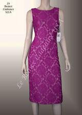 IVANKA TRUMP Women Dress Sze 12 PETUNIA Below Knee FLORAL LACE Sleeveless LBCUSA