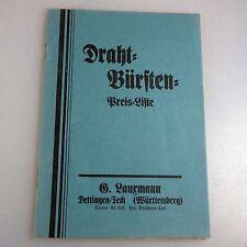 Katalog Drahtbürsten G. Lauxmann Dettingen und Teck um 1910 (40685)