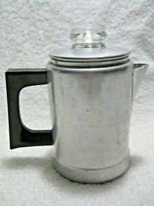 Vintage Collectible COMET Aluminum Non-Electric 2 Cup Percolator Made In USA!!!