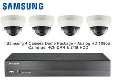 Samsung 4x AHD Analog HD 1080P Dome CCTV Cameras & 4 Channel DVR 2TB HDD Package