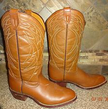 Mens RAMRODS Sz 7 Camel Brown Cowboy Boots