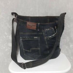 Handmade Denim large bag Casual jean tote bag of jeans Unisex jean handbag
