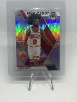 2019-20 Mosaic Silver Prizm NBA Debut RC #264 Coby White rookie Chicago Bulls