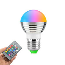 E27 Colorful RGB LED Night light 5W 110V-220V LED Remote Lamp Spotlight Bulb