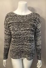Stunning Rock & Republic Black White Marled Sequin Sweater Size L