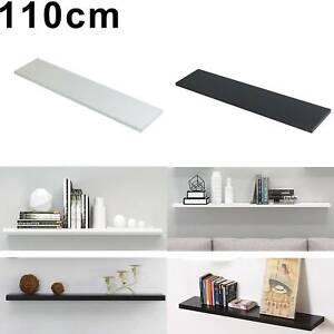 Wood Floating Shelf Storage Unit Kit & Fitting Wall Mounted Corner Shelves Rack
