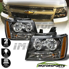 2007-2014 Chevy Suburan/Tahoe/07-13 Avalanche Factory Style Black Headlights Set