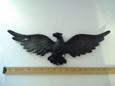 "Vintage American Eagle 17 1/4"" Wide Cast Aluminum Metal Patriotic Wall Hanging"