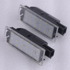 2x LED License for Vel Satis Renault Clio MK III Number Plate Light Save Energy