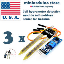 3 x Soil Hygrometer Water Detection Module Moisture Sensor for Arduino DIY USA