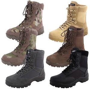 Mil-Tec Tactical Stiefel YKK Zipper Einsatzstiefel Outdoor Security Schuhe Boots