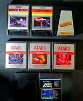 Vintage Atari 2600 Game Cartridge Lot Of 8 Sword Quest, Gyruss, Cosmic Ark More