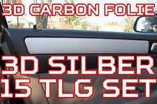 VW T5  3D CARBON SILBER ZIERLEISTEN FOLIEN SET Caravelle Multivan Transporter
