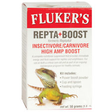 Fluker Repta+Boost Insectivore/Carnivore With Cup & Spoon High Amp - 50 Grams