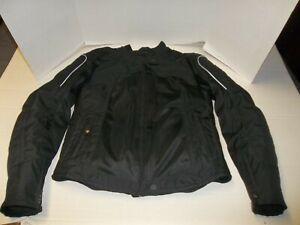Womens Size Small Scorpion EXO Black Armored Motorcycle Jacket