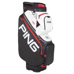 Ping 191 DLX Cart Golf Bag - Black/White/Scarlet