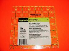 Omnigrid Omnigrip Neon Green 6 1/2 inch x 6 1/2 inch Square Ruler for Quilting