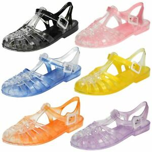 Ladies Spot On Closed Toe 'Jelly Shoes'