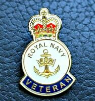 HM Royal Navy British Veteran enamel pin lapel badge UK 2019 Raf Sas