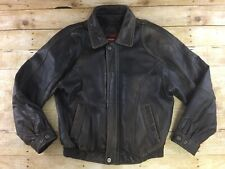 Vtg Reed Leather Bomber Jacket Mens Size 42 Brown Distressed Worn Faded Flight