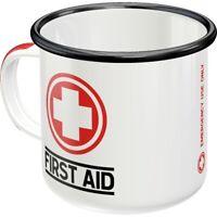 Emaille Erste Hilfe Kaffeetasse Souvenir Tasse,360 ml.,coffee mug
