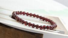 5mm Wine Red Garnet Beads Bracelet