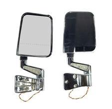 Jeep Wrangler Yj Tj 87-02 Led Mirror Pair Chrome Dual  X 11016.02