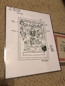 2007 Topps Hollywood Zombies Unpublished Art Jessica Simpson Folk Original Art