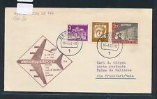 12496) LH FF Frankfurt - Palma Spanien 5.4.63, Brief ab Berlin