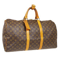 LOUIS VUITTON KEEPALL 50 TRAVEL HAND BAG 892FC PURSE MONOGRAM M41426 40846