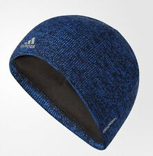 Adidas Training Climawarm Paramount Beanie Black/Blue Hat Men's One Size