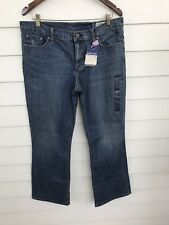 Women's Gap 1969 Size 12 A Boot Cut Jeans Low Rise Stretch Blue Denim Pants Wash