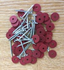 10mm Teddy Bear Cotter Pin Joints 100 fibre board disks & 50 pins (for 10 bears)