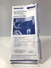 Panasonic PV-V462 VCR Owners Original Instruction Manual OEM VTG