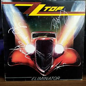 ZZ TOP Signed Autograph Billy GIBBONS Frank BEARDS LP ELIMINATOR Classic Rock