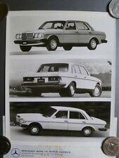 1978 Mercedes-Benz 280E, 300D & 240D MBofA Press Photo, Foto RARE! Awesome L@@K