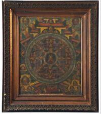 Beautiful 19th c Tibetan Thangka Scroll Painting