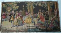 Gorgeous Victorian Antique Tapestry Dancing Gathering Made in Belgium