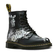DR. MARTENS 1460 RICK GRIFFIN ARTWORK GRAPHIC BLACK LEATHER BOOTS 24876009 NEW!
