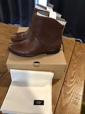 NEW Ugg Australia Bruno Leather Boots W's Size US 7 EU 38