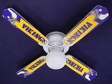 "New Nfl Minnesota Vikings Football Ceiling Fan 42"""