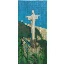 Bamboo Beaded Handmade Curtain Beads Door Shoji Iconic Religious Christ Redeemer