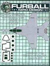 Furball Decals 1/48 BOEING F/A-18F HORNET Canopy & Wheel Hub Vinyl Mask Set